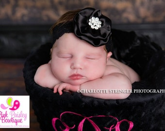 Baby Headband - Baby Girl Headbands - Baby Hair Accessories - Newborn Headbands - Infant Headband - Baby Hairbows - Baby Bows- Holiday Photo