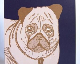 Pug Life Dollar Sign Blank Greeting Card