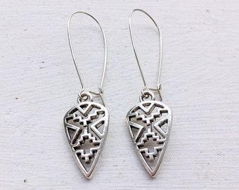 Bohemian Earrings/Arrowhead Earrings/Boho Earrings/Aztec Arrowhead Earrings/Arrow Earrings/Boho Earrings/Tribal Earrings/Fall Fashion