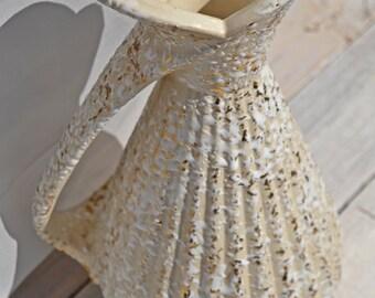 """Mid Century 24ct Gold Speckled Savoy Deena Vase 12"""""""