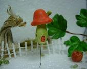Handmade Miniature Mushroom House for terrarium , fairy garden ,gnome garden , dollhouse garden , miniature garden