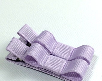 Baby Hair Clips -Lavender- Tuxedo Bow Hair Clip Set - Baby, Girl, Toddler, Children