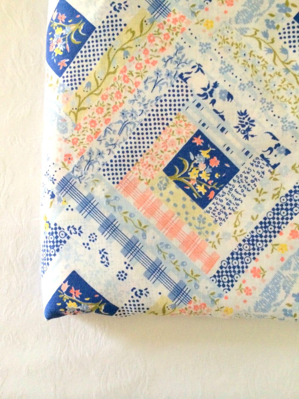 Vintage Calico Patchwork Quilt Print Girls Bedding Queen Flat