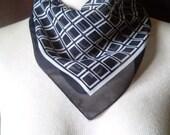 Silky Sheer Smooth Black & White Scarf