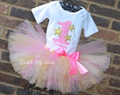 Twinkle Twinkle Little Star Birthday Tutu Outfit, Star Themed Birthday Tutu Outfit, First Birthday Star Party Outfit