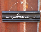 Welcome Sign - Welcome Door Sign - Black and White Welcome Sign - Housewarming GiftReady to Ship