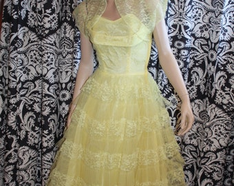 1950's Hattie Special Occasion Gown  Item #140-FG