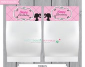 Fashion Girl Party Goodie Bag Toppers - Editable Text - Instant Download - Girl Birthday Party Favor - Candy Bar Wrapper