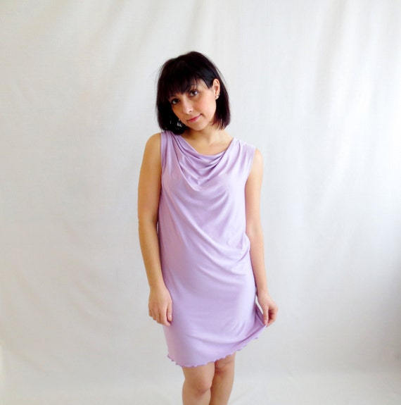 Lilac fitted dress, shift dress, tube dress, mini dress, tank dress, jersey dress, womens clothing