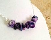 The Grace- Purple Agate Natural Stone Boho Necklace