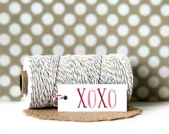 XOXO Gift Tags (Set of 10) - Gift Tags, Tags, Gift Wrapping, Gift Wrap, Packaging, Love, Wedding, XOXO