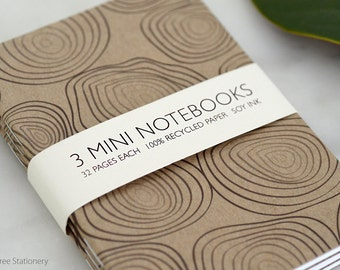 Mini Notebooks - Set of 3 - Rings Design