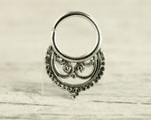 Septum Ring Piercing Nose Ring Body Jewelry Bohemian Fashion Indian Style 16g 14g - SE014R G1