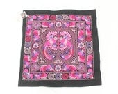 Pink Create Hmong Fabric Embroidered Textile Collection Fashionable Thailand  (TX4795.1)
