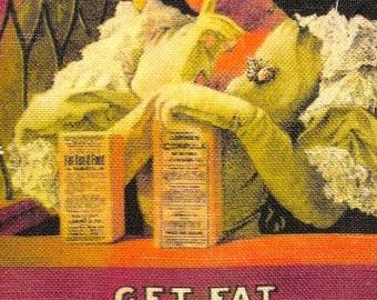 Printed Sew On Patch - FATTEN YOU UP - Vest, Bag, Backpack, Jacket -p594
