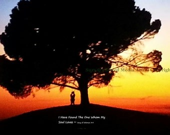 Art, Song of Solomon 3:4, Wall Art, INSTANT DOWNLOAD, I have found the one whom my soul loves, Lovers Art, Pay and Print Instantly, Sunset