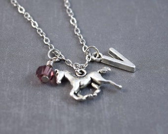 Silver Horse Necklace - Horse Jewelry - Pony Necklace - Animal Necklace - Horse Pendant - Personalized Necklace - Pony Pendant