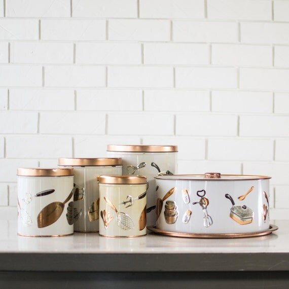 items similar to metal kitchen canisters kitchen storage