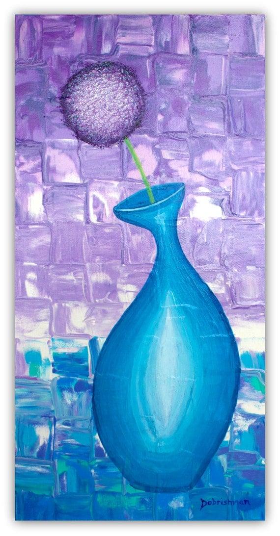 glitter malerei allium blume hortensie blume in der vase. Black Bedroom Furniture Sets. Home Design Ideas