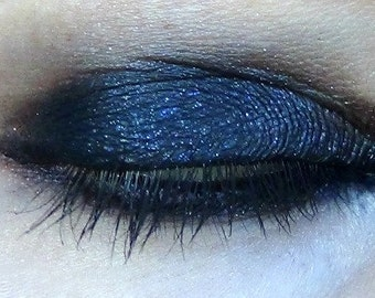 Ankh Vegan Eyeshadow- Velvet Black with Purple Shimmer