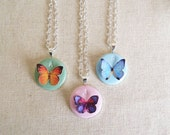 Bridesmaid necklace. Personalized  bridesmaid gift with initial. Butterfly necklace.