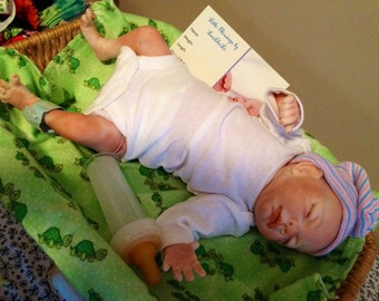 Completed Reborn Preemie Awareness Baby Doll Eric from the Rosebud 15 inch Kit Realistic Doll