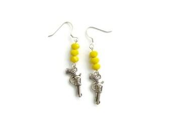 Yellow Pistol Earrings