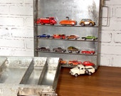 Reclaimed Industrial Metal Storage Drawer with 3 Adjustable Dividers