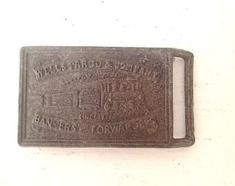 Vintage Brass Metal Belt Buckle, Man Fashion Accessories, 1960s Belt Buckle, Cowboy Belt Buckle, Husband Boyfriend Gift, Distressed