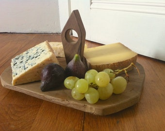 Cheese board. French wooden cheese board