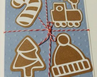 Handmade Christmas Card- Gingerbread Cookies