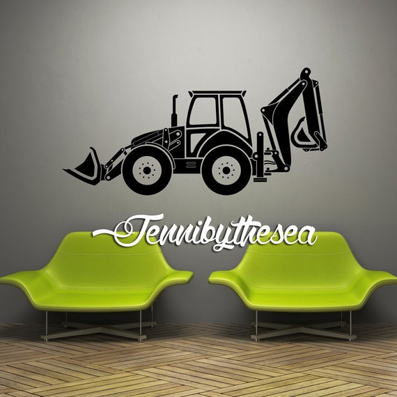 Wall Decal Vinyl Sticker Decals Tractor Wall Art