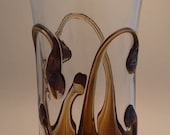Silver Amethyst on Iris Gold tumbler pint