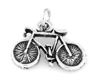 Sterling Silver Bicycle Bike Charm