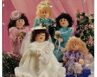 Bottle Ladies Bridal Party Crochet Pattern Book American School of Needlework 1178