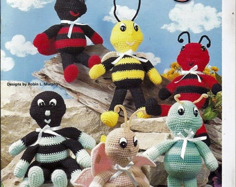 Hug A Bugs Doll Crochet Pattern Book House of White Birches 101120