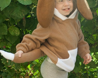 BABY & TODDLER Hound Dog Puppy Hoodie, Costume, Vest, Jacket, Hand-made, Cosplay