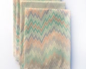 SALE- Vintage Chevron Cloth Napkins- Set of 4- Limited Edition