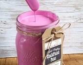 Handmade Chalk Paint, Pink, Fuscia, Hot Pink, Pink Decor, Pink and Gold, Pink Dresser, Pink Elephant, Pink Kitchen, Pink Knobs, Pink Lamp