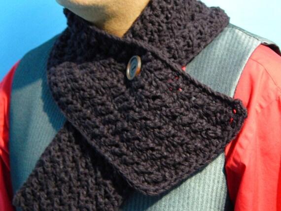 Patrón ganchillo para bufanda de hombre , en Inglés