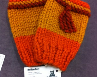 Firefly Inspired Fingerless Gloves: Cunning Fingerless Mitts to match a Cunning Hat