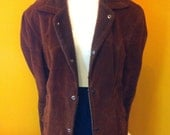 70s brown suede outerwear coat