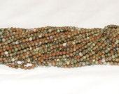 """Rhyolite (Rainforest Jasper) 4mm Round Gemstone Beads  - 15.75"""" Strand"""