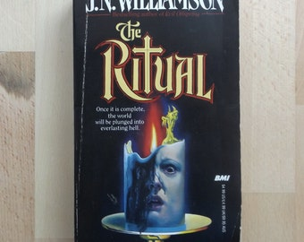 The Ritual J. N. Williamson Vintage Paperback Book 1983 Terror 80's Horror