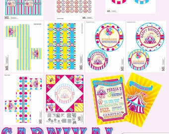 Carnival Birthday Party, Circus Birthday Party Decor