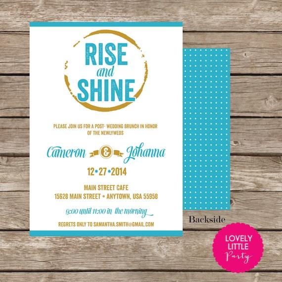 Mod Post Wedding BrunchBreakfast Invitation DIY Printable