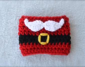 Crochet Santa Coffee Cup Cozy