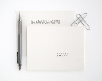 Modern Letterpress Stationery Set - Folded Note Cards - Unique and Simple - Premiere