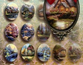 NATURE  - 30x40 mm Digital Collage Sheet Printable Download oval images for Bezel Cabs Glass and Resin Pendants