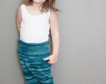 Baby Children Pants Trousers Leggings Clothing Knit Wool Warm Boy Girl sea ocean blue